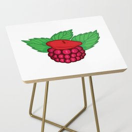 Raspberry Beret Side Table