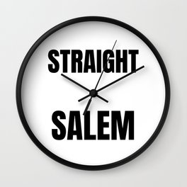 Straight Outta Salem Supernatural Rowena Witches Spells Curses Wall Clock