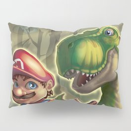 Mario and Yoshi in the real world Pillow Sham