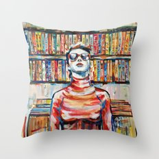 Vhs Vinilos Revisited Throw Pillow