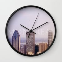 montreal Wall Clocks featuring Montreal by hellomatilda