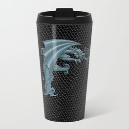 Dragon Letter F, from Dracoserific, a font full of Dragons. Travel Mug