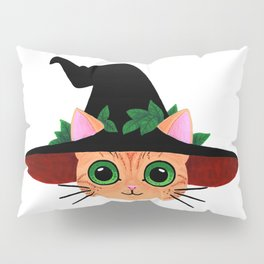 Witch hat cat Pillow Sham