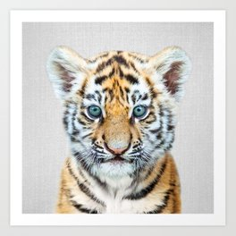Baby Tiger - Colorful Art Print