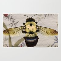 bee Area & Throw Rugs featuring Bee by Mary Rath