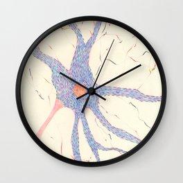 Starry night brain cell. Wall Clock