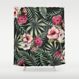 Tropical leave pattern 11.1 Shower Curtain