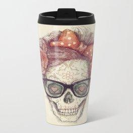 Hipster Girl is Dead Metal Travel Mug