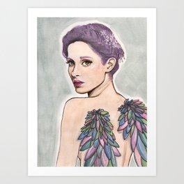 Angel babe Art Print