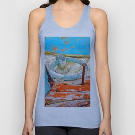 A boat that was washed ashore on Ageon Sea, decaying in the sun. Unisex Tank Top