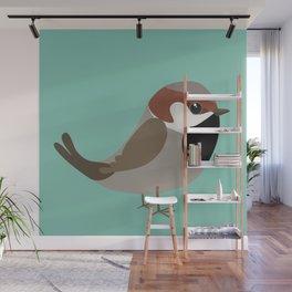 Cute sparrow Wall Mural