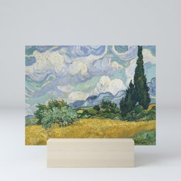 Wheat Field with Cypresses by Vincent van Gogh Mini Art Print