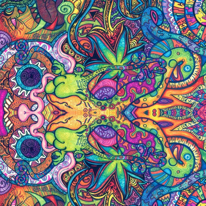 Trippy Weed Comforters by hipster | Society6