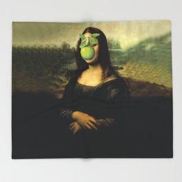 GIOCONDA MAGRITTE Throw Blanket