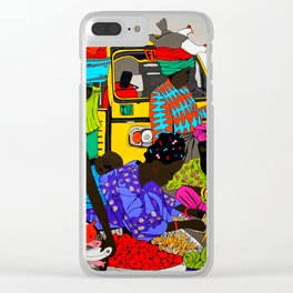 african market 1 Clear iPhone Case