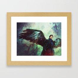 The Winged Detective Framed Art Print