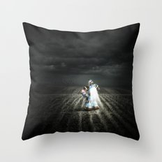 Abandoned Innocence Throw Pillow
