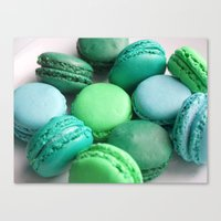 macaroons Canvas Prints featuring Macaroons by Sara Chergui