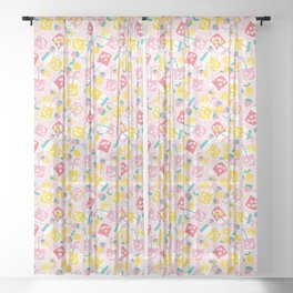 Pink Lemonade Sheer Curtain