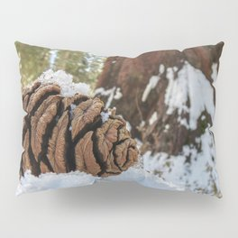 Sequoia Cone in Snow Pillow Sham