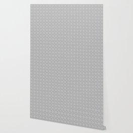 Silver Gray Clover Pattern Wallpaper