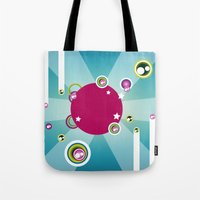 disco Tote Bags featuring Disco by Klara Aldana