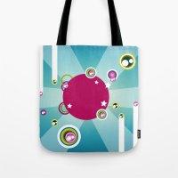 disco Tote Bags featuring Disco by Kaissa Kkaissa
