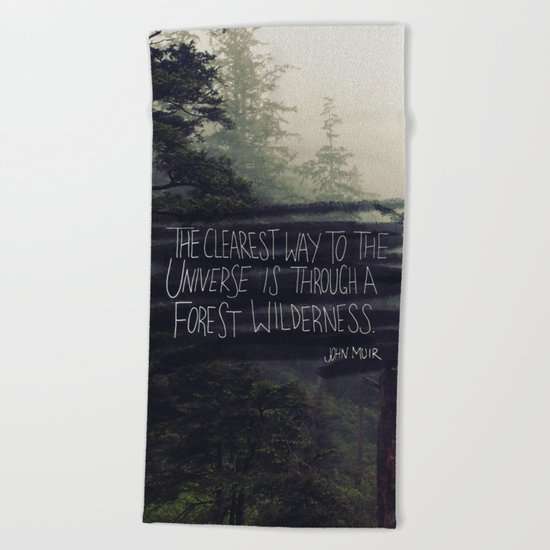 Forest Universe Beach Towel