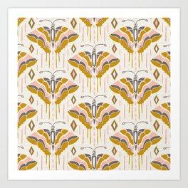 La Maison des Papillons Blush Art Print