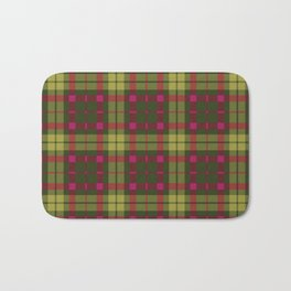 Purple and green Tartan (Scotch) Pattern Bath Mat
