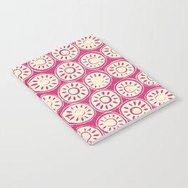 flower block ivory pink Notebook