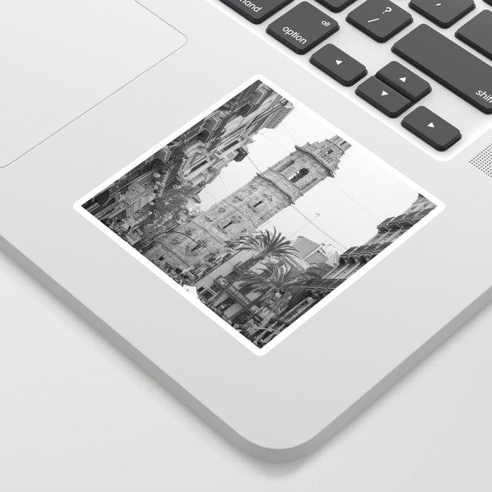 Black White Architecture in Valencia Sticker