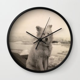 Dog on Nansen's Fram Expedition to the Arctic Wall Clock