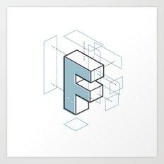 The Exploded Alphabet / F Art Print