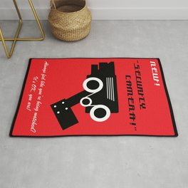 Retro-futuristic Security Camera Advert Rug