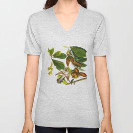Yellow-billed Cuckoo Bird Unisex V-Neck