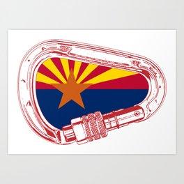 Arizona Flag Climbing Carabiner Art Print