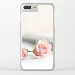 Baby pink roses Clear iPhone Case