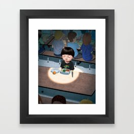 Alone at Lunchtime Framed Art Print