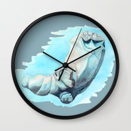 Baby Hippo with a Twist Underwater Fantasia Ballet Wall Clock