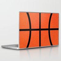 basketball Laptop & iPad Skins featuring Basketball by Rorzzer