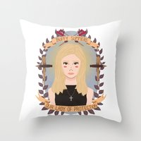 buffy Throw Pillows featuring Buffy Summers by heymonster