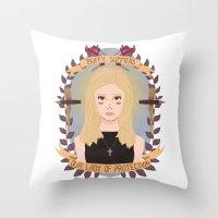 heymonster Throw Pillows featuring Buffy Summers by heymonster