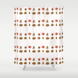 fall patterns watercolor Shower Curtain