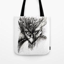 Owl Girl Eyes Tote Bag