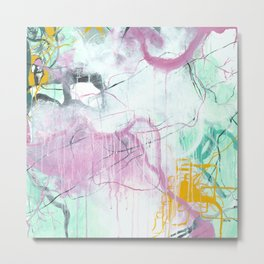 Chrystarium - Square Abstract Expressionism Metal Print