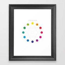 Simple Color Wheel Framed Art Print