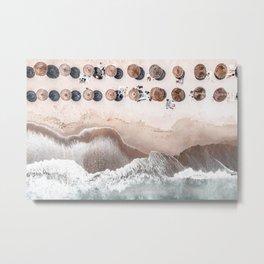 Ocean Beach Print, Aerial Beach, Australia Bondi Beach, Aerial Photography, Ocean Waves, Waves Print, Sea Print, Modern Home Decor, Art Print Metal Print