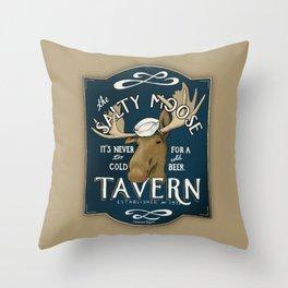 The Salty Moose Throw Pillow