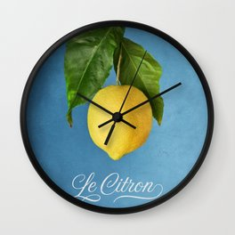 Le Citron Wall Clock